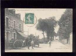 35 Chateaubourg L'hôtel Du Commerce & La Route De Rennes édit. Mary Rousselière N° 3772 Animée ,   Guelet Propriétai - France