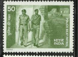INDIA,1982 ,Police Memorial Day, Police Beat Patrol, Job, Torch, Energy, MNH,(**) - Ungebraucht