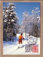 MARCOPHILIE - OBLITERATION MONTBENOIT 24 HEURES DES NEIGES - SKI DE FOND - 23/24 JANVIER 1988 - SKI - 1961-....