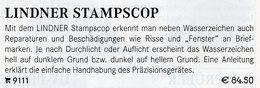 Letterscope Wasserzeichen-Sucher Neu 93€ Prüfen Von WZ Auf Briefen/Karten Check Of Stamps Paper Wmkd. LINDNER Offer 9110 - Philately