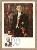 HAUTE MARNE - COLOMBEY LES DEUX EGLISES  - GENERAL DE GAULLE - 9 NOVEMBRE 1971 - De Gaulle (General)