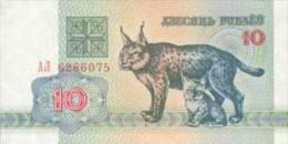 Belarus-10 Roubles - Lynx -1992 Years -UNC - Bielorussia