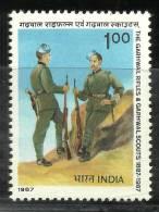 INDIA, 1987, Garhwal Rifles And Garhwal Scouts, Centenary,  MNH, (**)