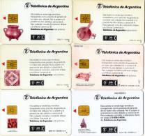 TELECARTES   ARGENTINE   20 Fichas   Artisanat  Crafts  (lot De 6)  ***** - Argentine