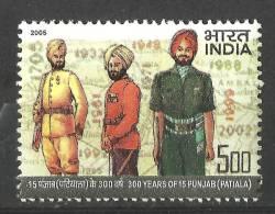 INDIA, 2005, 300 Years Of 15 Punjab, (Patiala), Regiment, MNH,(**)