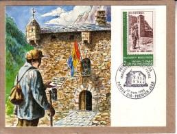 ANDORRE- CARTE PREMIER JOUR - FDC - POSTE - INAUGURACIO MUSEU POSTAL - 22 MARS 1988 - FDC
