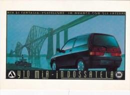 C-1078 Cartolina Pubblicitaria Lancia Y10 Mia - Pubblicitari