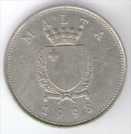MALTA 25 CENTS 1998 - Malta
