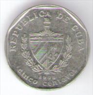 CUBA 5 CENTAVOS 1998 - Cuba