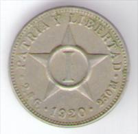 CUBA 1 CENTAVO 1920 - Cuba