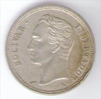 VENEZUELA 1 BOLIVAR 1960 AG SILVER - Venezuela