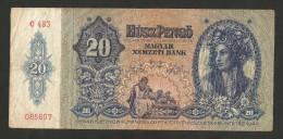 [NC] HUNGARY / MAGYAR - 20 PENGO (BUDAPEST - 1941) - Ungheria