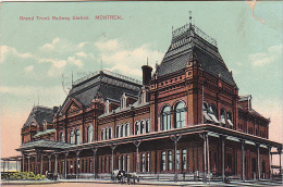 22745 CANADA QUEBEC Montreal  Grand Trunk Railway Station -european Card 2039 - Etat !!! - Montreal