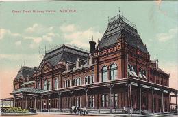 22745 CANADA QUEBEC Montreal  Grand Trunk Railway Station -european Card 2039 - Etat !!!