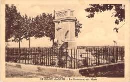 30 - St-Gilles-du-Gard - Le Monument Aux Morts - Saint-Gilles