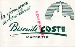 13 - MARSEILLE - SUPERBE BUVARD BISCUITS COSTE - LA RECOMPENSE DES BONS ELEVES  ECOLE - Blotters