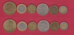 KENYA  //  Lot De 6 Monnaies - Kenya