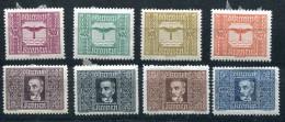 3192 - ÖSTERREICH - Mi.Nr. 425-432, Falzsatz Flugpost - AUSTRIA, Mint But Hinged Set Air Mail - 1918-1945 1st Republic