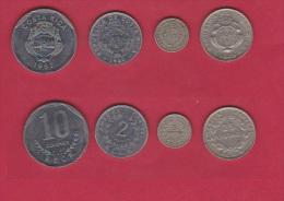 COSTA RICA   //  Lot De 4 Monnaies - Costa Rica