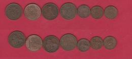 BELGIQUE   //  Lot De 7  Monnaies Anciennes - Belgique