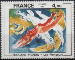 FRANCE Poste 2168 ** Tableau De PIGNON : Les Plongeurs Peinture Peintre - France