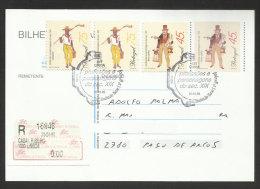 Portugal Professions Et Figures Typiques XIX Siècle Entier Recommandée Premier Jour 1995 Typical Figures R Stationery - Postal Stationery