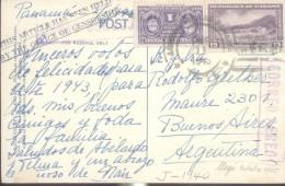 PANAMA CORREO AEREO POSTAL CIRCULADA WITH CENSORSHIP AÑO 1945 LLEGO A BUENOS AIRES - Panama