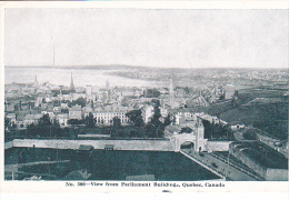 22786  CANADA QUEBEC View From Parliament Buildings, N 300 Novelty Mfg
