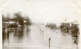 CPA 75 PARIS LE QUAI D AUTEUIL LES PONTONS DU POINT DU JOUR 1910 édit. Rose, - Paris Flood, 1910