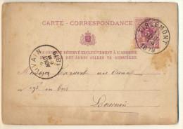 4v821: CARTE CORREPONDANCE : E9: TIRLEMONT > LOUVAIN Aout 1879 - Entiers Postaux