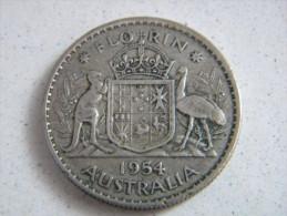 AUSTRALIE - 1 FLORIN 1954. - Monnaie Pré-décimale (1910-1965)