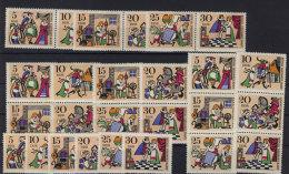 Lot DDR ZD Michel No. 1323 - 1328 /  W Zd 183 - 185 , S Zd 82 - 87 ** postfrisch