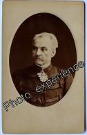 Photo Cdv XIX Militaire Officier Général Autographe Military 1878 NEUILLY 92 - Oud (voor 1900)