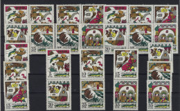 Lot DDR ZD Michel No. 1901 - 1906 /  W Zd 290 - 295 , S Zd 131 - 133 ** postfrisch