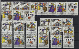 Lot DDR ZD Michel No. 1995 - 2000 /  W Zd 308 - 313 , S Zd 136 - 138 ** postfrisch