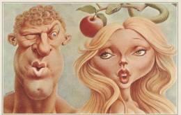 "ILLUSTRATEURS MULATIER / MORCHOISNE / RICORD   "" ADAM EVE   ""   N°301   "" LES GRANDES GUEULES ""   CPM 16.5 X 11.5  NEUVE - Illustratori & Fotografie"