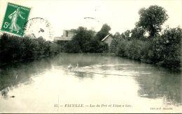 N°36545 -cpa Fauville -lac Du Pré Et Usine à Gaz- - Andere Gemeenten