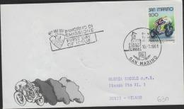 O) 1961 SAN MARINO, MOTORCYCLE SPEED, FDC USED TO MILAN - FDC