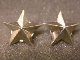 STELLE STARS - 2 Cm Metallo  Cromato - Militari