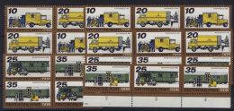 Lot DDR ZD Michel No. 2299 - 2302 /  W Zd 362 - 369 , S Zd 149 - 156 ** postfrisch