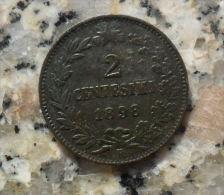 * 2 CENTESIMI DEL 1898 DEL REGNO D'ITALIA UMBERTO I° - - 1878-1900 : Umberto I