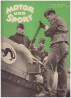 Motor Und Sport , 7.07.1940 , Zeitschrift , Motorrad , Flugzeug , Automobile , Wehrmacht !!! - KFZ