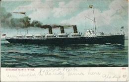 Postcard (Ships) - Steamer North West - Steamers