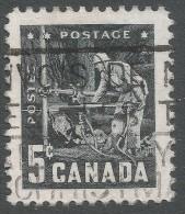 Canada. 1957 Mining Industry. 5c Used - 1952-.... Reign Of Elizabeth II