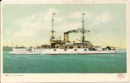 Postcard (Ships) - USS Alabama - Guerra