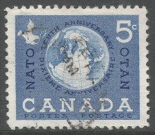 Canada. 1959 Tenth Anniv Of North Atlantic Treaty Organisation (NATO). 5c Used - 1952-.... Reign Of Elizabeth II