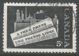 Canada. 1958 The Canadian Press. 5c Used - 1952-.... Reign Of Elizabeth II
