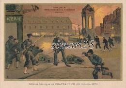 CHOCOLATERIE D´AIGGUEBELLE - N° 24 - DEFENSE HEROIQUE DE CHATEAUDUN (18 Octobre 1870) - Aiguebelle