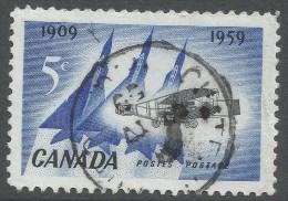 Canada. 1959 50th Anniv Of 1st Flight Of The Silver Dart In Canada. 5c Used - 1952-.... Reign Of Elizabeth II