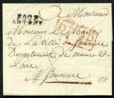 SEINE : Pli De ANTONY De 18?? En Port Payé Avec Marque Linéaire P.60P. ANTONY + PPPP Pour SAUMUR - Postmark Collection (Covers)